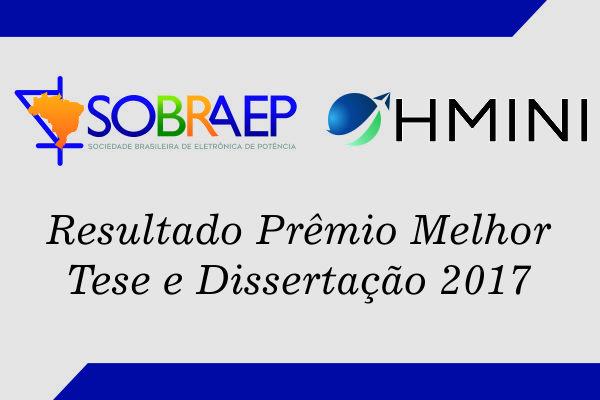 Resultado do Prêmio SOBRAEP de Dissertação e de Tese