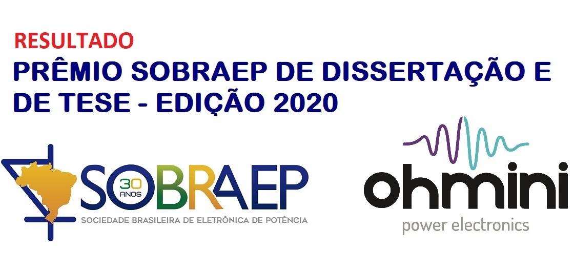 RESULTADO DO PRÊMIO SOBRAEP DE DISSERTAÇÃO E DE TESE – EDIÇÃO 2020